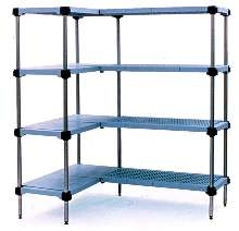Modular Shelving resists bacteria and corrosion.