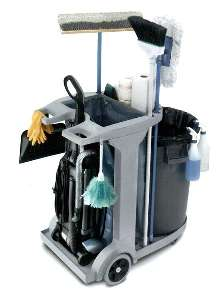 Portable Cleaning Cart stores up to 40 lbs of trash.