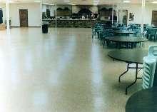 Epoxy Floor System provides look of granite.