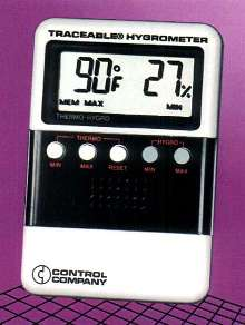 Humidity/Temperature Meter is NIST traceable.
