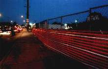 Reflective Safety Fencing covers critical work zones.