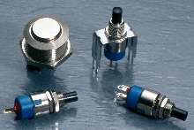 Pushbutton Switches suitable for 1/4 in. panel mounting.