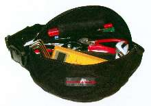 Spill-Proof Tool Belt carries and organizes tools.