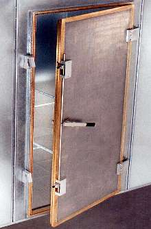 Door provides EMI/RFI shielding.