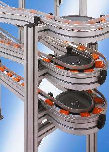 Conveyor offers transport speeds up to 50 m/min.