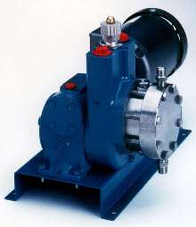 Diaphragm Metering Pump has separate hydraulic/lube chambers.