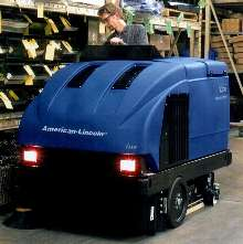 Rider Sweeper/Scrubber performs one-pass cleaning.