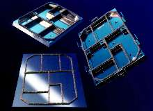 Gaskets are highly conductive and provide EMI shielding.