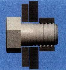 Fastener is self-locking and vibration resistant.