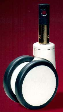 Twin-Wheel Caster permits easy locking and unlocking.