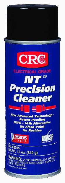 Cleaner removes contaminants from electronic equipment.