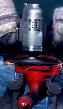 Grinder/Sander is designed for heavy-duty use.