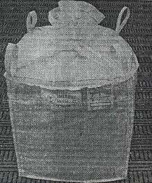 Intermediate Bulk Container handles hazardous waste solids.