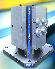 Towers provide rigid part holding for machining centers.