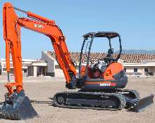Excavator provides terrain and jobsite versatility.