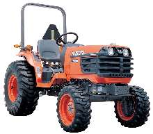Compact Tractor has balanced, 4-wheel drive design.