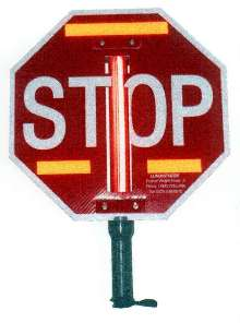 Stop Sign is made of corrugated polypropylene.