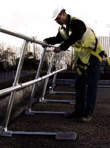 Fall Prevention Railing System is suitable for flat roofs.