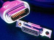 Connector has shallow mating angle.