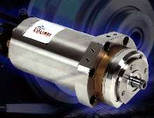 Spindle features motorized bearing for high stiffness.