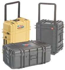 Transit Cases are molded in ABS material.