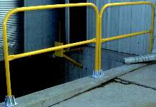Handrails are customized for specific applications.