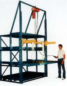 Extension Shelves with Crane store heavy items.