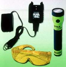 Leak Detection Flashlight charges from car.
