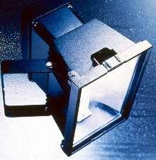 Floodlighting Fixture has stepped, rectangular housing..
