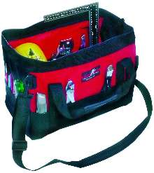 Portable Tool Organizer has 28 pockets and padded handles.