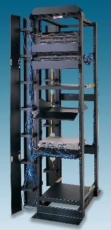 Open Frame Racks Accommodate Networking Equipment