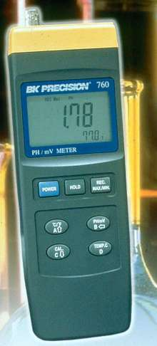 Intelligent pH Meter has built-in microprocessor circuit.