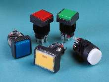 Illuminated Pushbutton Switches indicate status.