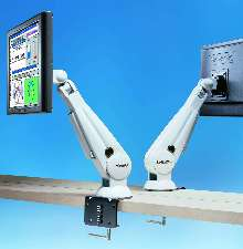 Monitor combines bright screen with swivel arm.