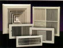 Plastic Registers/Diffusers offer alternative to metal.