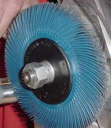 Radial Bristle Brushes are offered in 6 in. diameter.