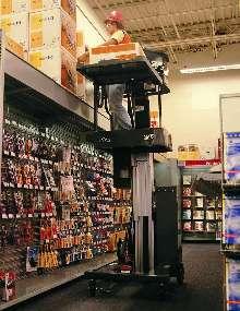 Mini Stock Picker provides safe overhead access.