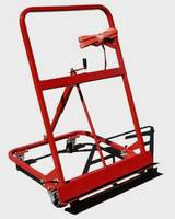 Door Cart helps worker safely install doors.
