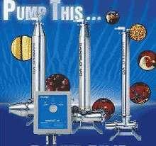 Pump minimizes damage to sanitary solids.
