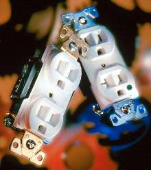 Receptacles are offered in hospital and spec grades.