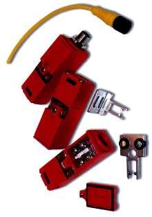 Miniature Safety Interlock Switch measures 75 x 25 x 29 mm.