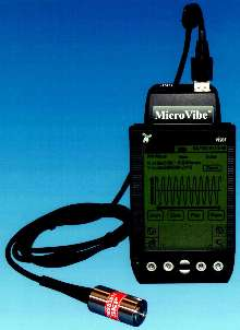 Card-Type Vibration Meter performs analyses using PDAs.