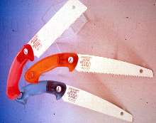 Saws have triple edged, 7 in. blades.