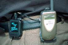 Cell Phone/Pager Tether prevents equipment loss/damage.