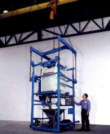 Bulk Bag Discharger obviates forklifts and conveyors.