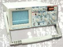 Analog Oscilloscope incorporates 50 MHz frequency counter.