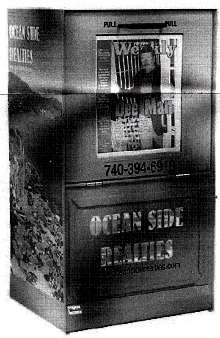 Newspaper Dispensers resist corrosion from salt spray.