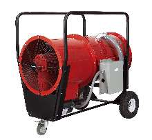 Blower Heaters offer high pressure air flow.
