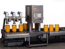 Gravimetric Filler can fill 6 pails simultaneously.
