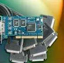 I/O Adapter provides eight RS232 ports.